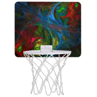 Genesis Blue Abstract Art Mini Basketball Hoop
