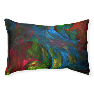 Genesis Blue Abstract Art Pet Bed