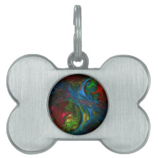 Genesis Blue Abstract Art Pet ID Tag