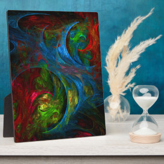 Genesis Blue Abstract Art Plaque
