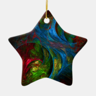 Genesis Blue Abstract Art Star Ornament