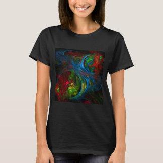 Genesis Blue Abstract Art T-Shirt