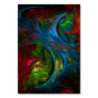 Genesis Blue Abstract Art Table Card