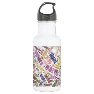 Genesis Chapter 1 Word Cloud 532 Ml Water Bottle
