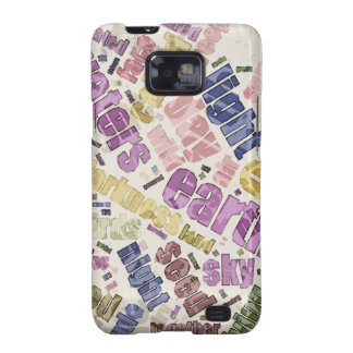Genesis Chapter 1 Word Cloud Samsung Galaxy SII Cover