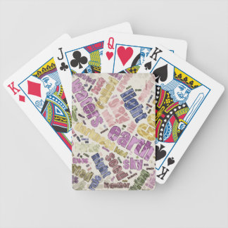 Genesis Chapter 1 Word Cloud Poker Cards