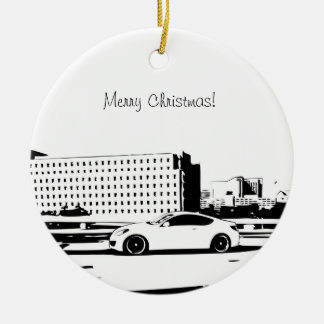 Genesis Coupe Rolling shot Double-Sided Ceramic Round Christmas Ornament
