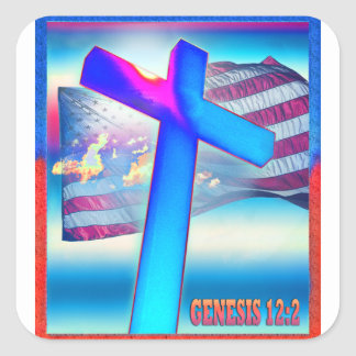 Genesis Flag Square Sticker