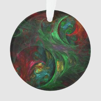 Genesis Green Abstract Art Acrylic Circle Ornament