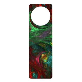 Genesis Green Abstract Art Door Hanger