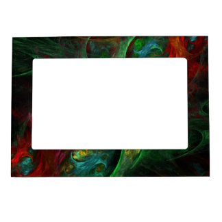 Genesis Green Abstract Art Frame Magnets