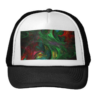 Genesis Green Abstract Art Hat