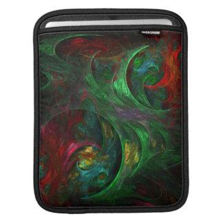 Genesis Green Abstract Art iPad Sleeve