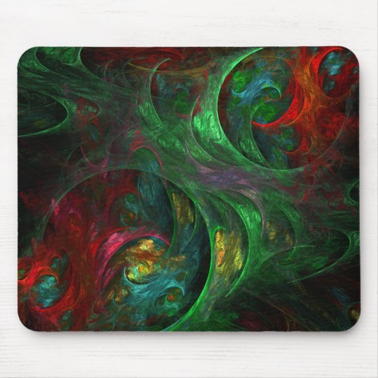 Genesis Green Abstract Art Mousepad