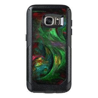 Genesis Green Abstract Art OtterBox Samsung Galaxy S7 Case