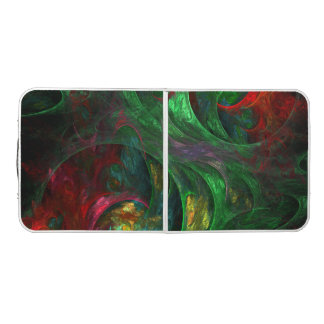 Genesis Green Abstract Art Pong Table