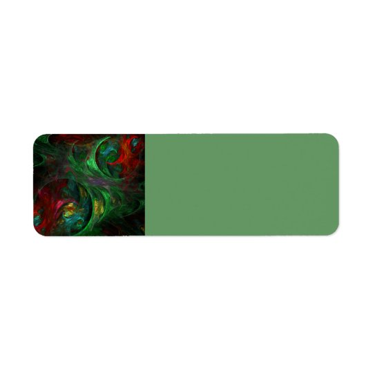 Genesis Green Abstract Art Return Address Label