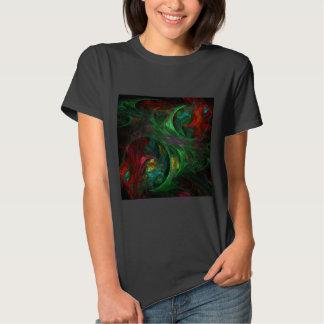 Genesis Green Abstract Art T-Shirt
