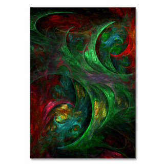 Genesis Green Abstract Art Table Card