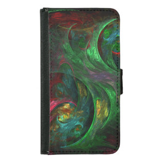 Genesis Green Abstract Art Wallet Case