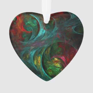 Genesis Nova Abstract Art Acrylic Heart Ornament
