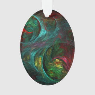 Genesis Nova Abstract Art Acrylic Oval Ornament