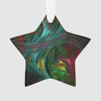 Genesis Nova Abstract Art Acrylic Star Ornament