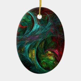 Genesis Nova Abstract Art Oval Ornament