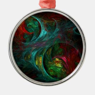 Genesis Nova Abstract Art Round Christmas Ornament