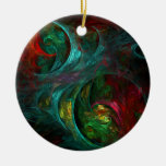 Genesis Nova Abstract Art Round Ornament