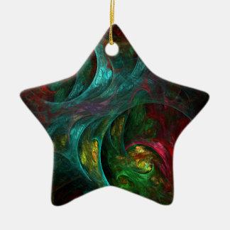 Genesis Nova Abstract Art Star Ornament