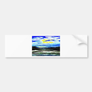 Genesis Ocean Waves Sparkly Seascape Gifts Art Bumper Sticker