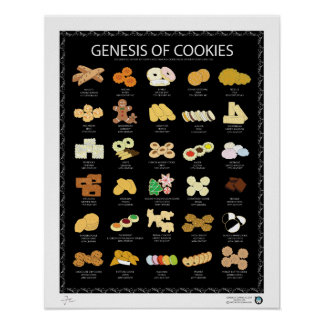 "GENESIS OF COOKIES, DARK, 16""X20"" POSTER"