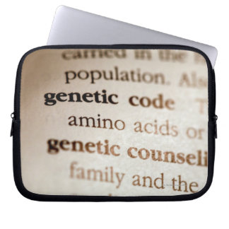 Genetic code and genetic counseling definitions laptop sleeve