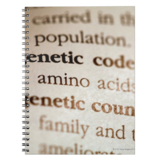 Genetic code and genetic counseling definitions notebook