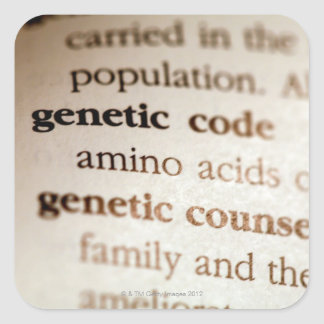 Genetic code and genetic counseling definitions square sticker