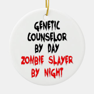 Genetic Counselor Zombie Slayer Christmas Ornament