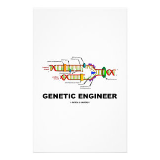 Genetic Engineer DNA Replication Personalized Stationery