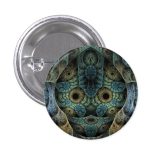 Genetic Memory Psychedelic Face 3 Cm Round Badge