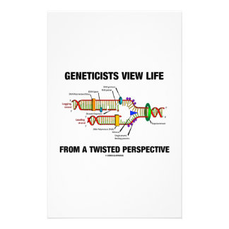 Geneticists View Life From A Twisted Perspective Personalized Stationery