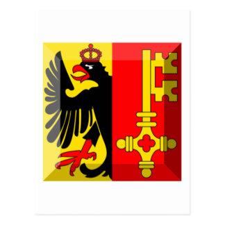 Geneva Flag Gem Post Card
