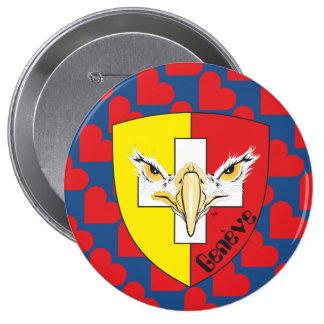 Geneva/Genève Switzerland Suisse Svizzera of 10 Cm Round Badge