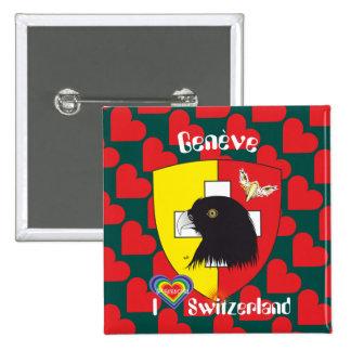 Geneva/Genève Switzerland Suisse Svizzera of 15 Cm Square Badge