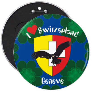 Geneva/Genève Switzerland Suisse Svizzera of 6 Cm Round Badge