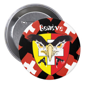 Geneva/Genève Switzerland Suisse Svizzera of 7.5 Cm Round Badge