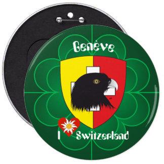 Geneva/Genève Switzerland Suisse Svizzera of butto 6 Cm Round Badge
