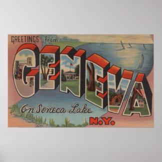 Geneva, New York - Large Letter Scenes Print