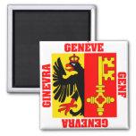 Geneva Switzerland Canton Flag Magnet
