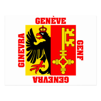 Geneva Switzerland Canton Flag Post Cards