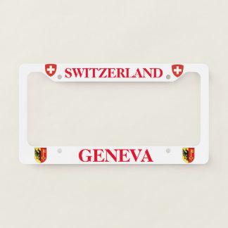 Geneva Switzerland Custom Metal License Frame